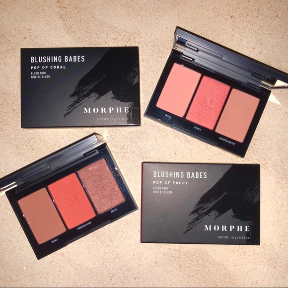 Morphe Blushing Babes Blush Trio Palette Bundle